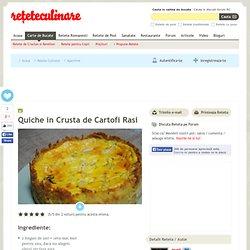 Quiche in Crusta de Cartofi Rasi