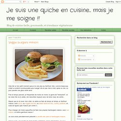 Veggie burgers maison
