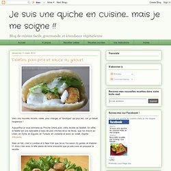Falafels, pain pita et sauce au yaourt