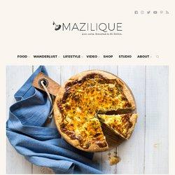 Quiche cu jambon, pere și Roquefort - Mazilique