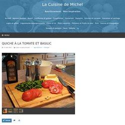Quiche à la tomate et basilic