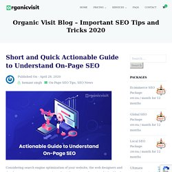 Quick Actionable Guide to Understand On-Page SEO