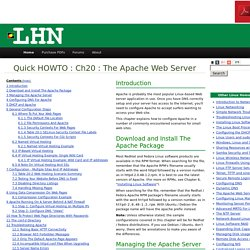 Ch20 : The Apache Web Server