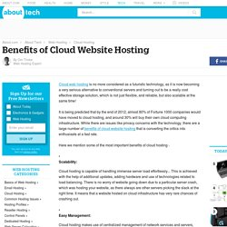 A Quick Look at Benefits of Cloud Website Hosting