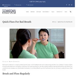 Home Remedies For Avoiding Bad Breath