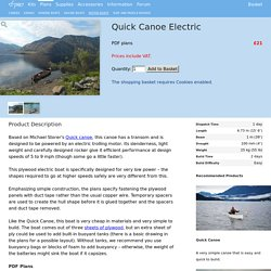 Quick Canoe Electric - Fyne Boat Kits