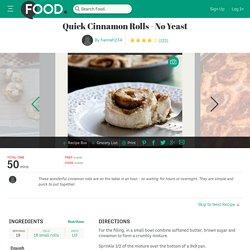 Quick Cinnamon Rolls Recipe