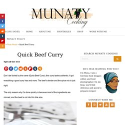 Quick Beef Curry - Munaty Cooking