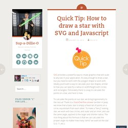 Quick Tip: How to draw a star with SVG and Javascript