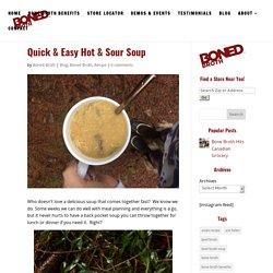 Quick & Easy Hot & Sour Soup