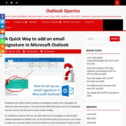 A Quick Way To Add Email Signature In MS Outlook