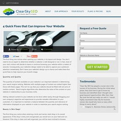 4 Quick Fixes that Can Improve Your Website