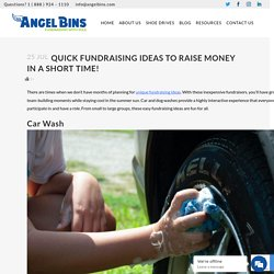 Quick Fundraising Ideas to Raise Money in a Short Time