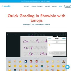 Quick Grading in Showbie with Emojis – Showbie