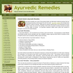 A Quick Guide to Ayurvedic Remedies
