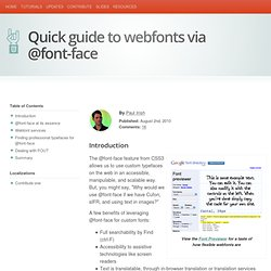 Quick Guide to implement webfonts via @font-face