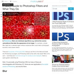 A Quick Guide to Photoshop Filters and What They Do