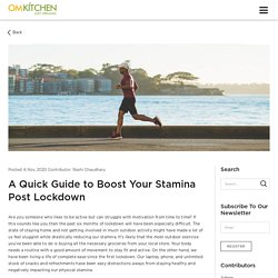 A Quick Guide to Boost Your Stamina Post Lockdown