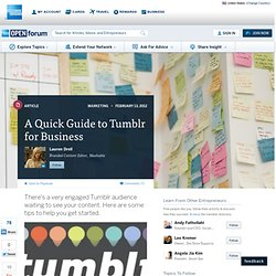 A Quick Guide to Tumblr for Business