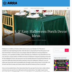 5 Quick & Easy Halloween Porch Decor Ideas