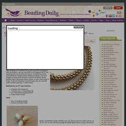 Quick and Easy: Try This Herringbone Rope with Twin Beads!