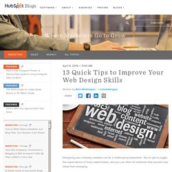 13 Quick Tips to Improve Your Web Design Skills
