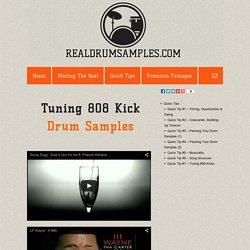 Quick Tip #7 - Learn why it is so important to tune your 808 drum samples.