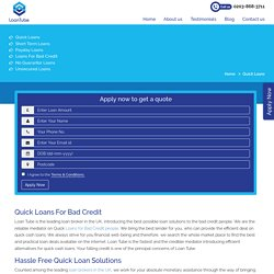 Quick Loans for Bad Credit People in UK