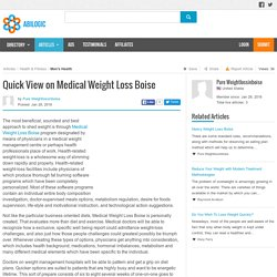 Quick View on Medical Weight Loss Boise