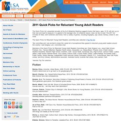 2011 Quick Picks for Reluctant Young Adult Readers