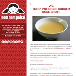 Quick Pressure Cooker Bone Broth