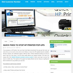 Quick fixes to stop HP Printer Pop-ups
