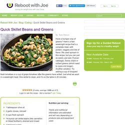 Quick Skillet Beans and Greens