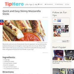 Quick and Easy Skinny Mozzarella Sticks