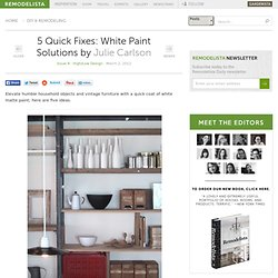 5 Quick Fixes: White Paint Solutions