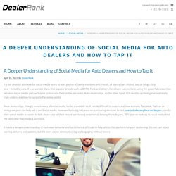 A Deeper Understanding of Social Media for Auto Dealers and How to Tap It