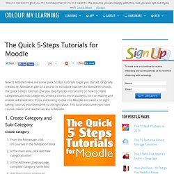 The Quick 5-Steps Tutorials for Moodle