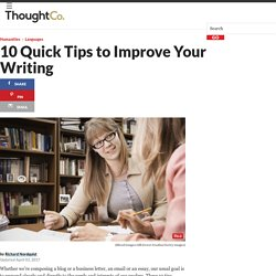 10 Quick Tips to Improve Your Writing