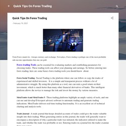 Quick Tips On Forex Trading