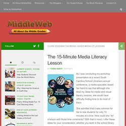 Quick Ideas for Visual and Media Literacy Lessons