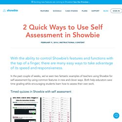 2 Quick Ways to Use Self Assessment in Showbie – Showbie