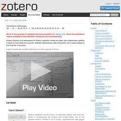 it:quick_start_guide [Zotero Documentation]