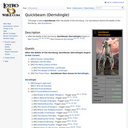 Quickbeam (Derndingle) - Lotro-Wiki.com