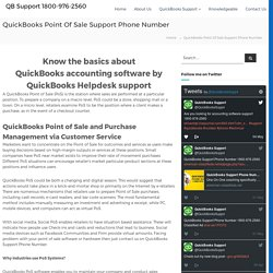 QuickBooks Point Of Sale Support 18009762560 QuickBooks Helpdesk Number