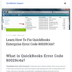 QuickBooks Error Code 80029C4A - QuickBooks Enterprise Support Team
