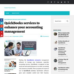 QuickBooks services to enhance your accounting management