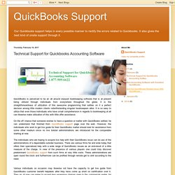 Technical Support for Quickbooks Accounting Software