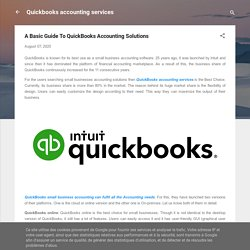 A Basic Guide To QuickBooks Accounting Solutions