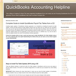 Comprehesive Steps to update QuickBooks payroll tax tables