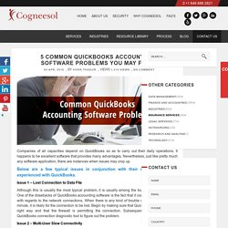 5 Common QuickBooks Accounting Software Problems You May Face